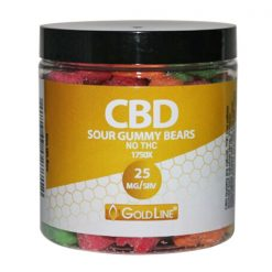 25mg CBD Sour Gummy Edibles - 8oz
