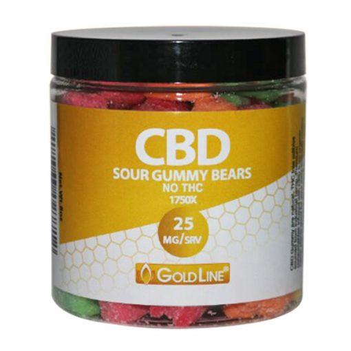 25mg CBD Sour Gummy Edibles - 8oz