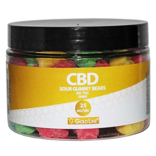 25mg CBD Sour Gummies Jar
