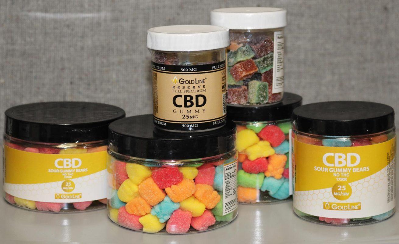CBD Sour Gummies Selection