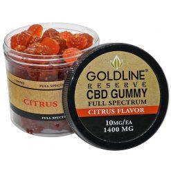 Full Spectrum 1400mg CBD Gummies - Citrus Flavor