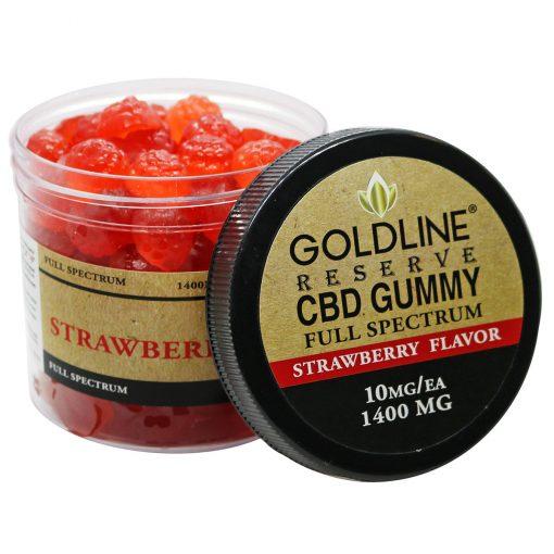 Full Spectrum 1400mg CBD Gummies - Strawberry Flavor
