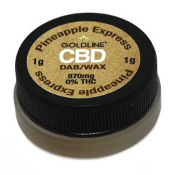 Goldline Reserve 1g CBD Wax Pineapple 870mg