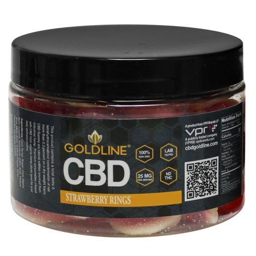 CBD Strawberry Rings Gummies 12oz