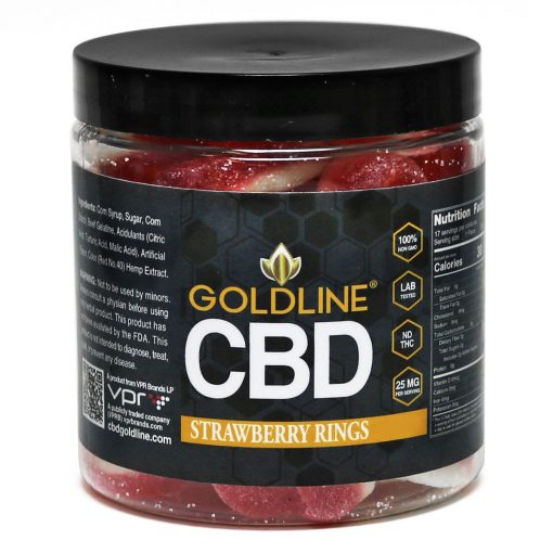 Strawberry CBD Gummy Rings 8oz Jar