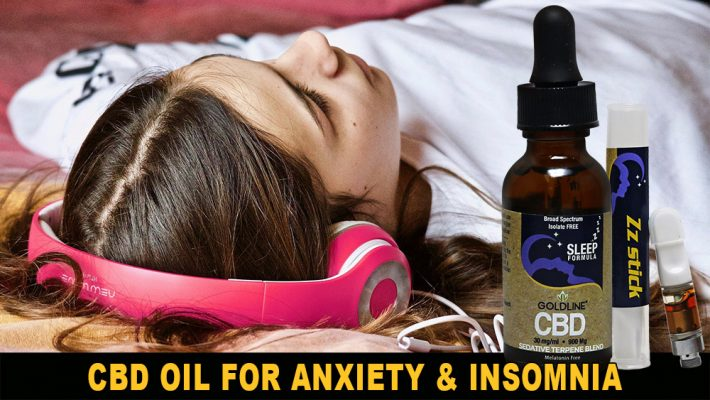 Goldline CBD Oil for Anxiety Insomnia Relaxation
