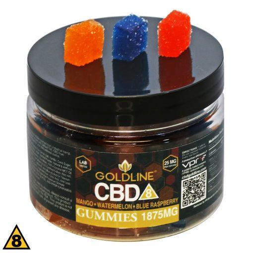 Goldline Gummies 25mg Delta 8 CBD